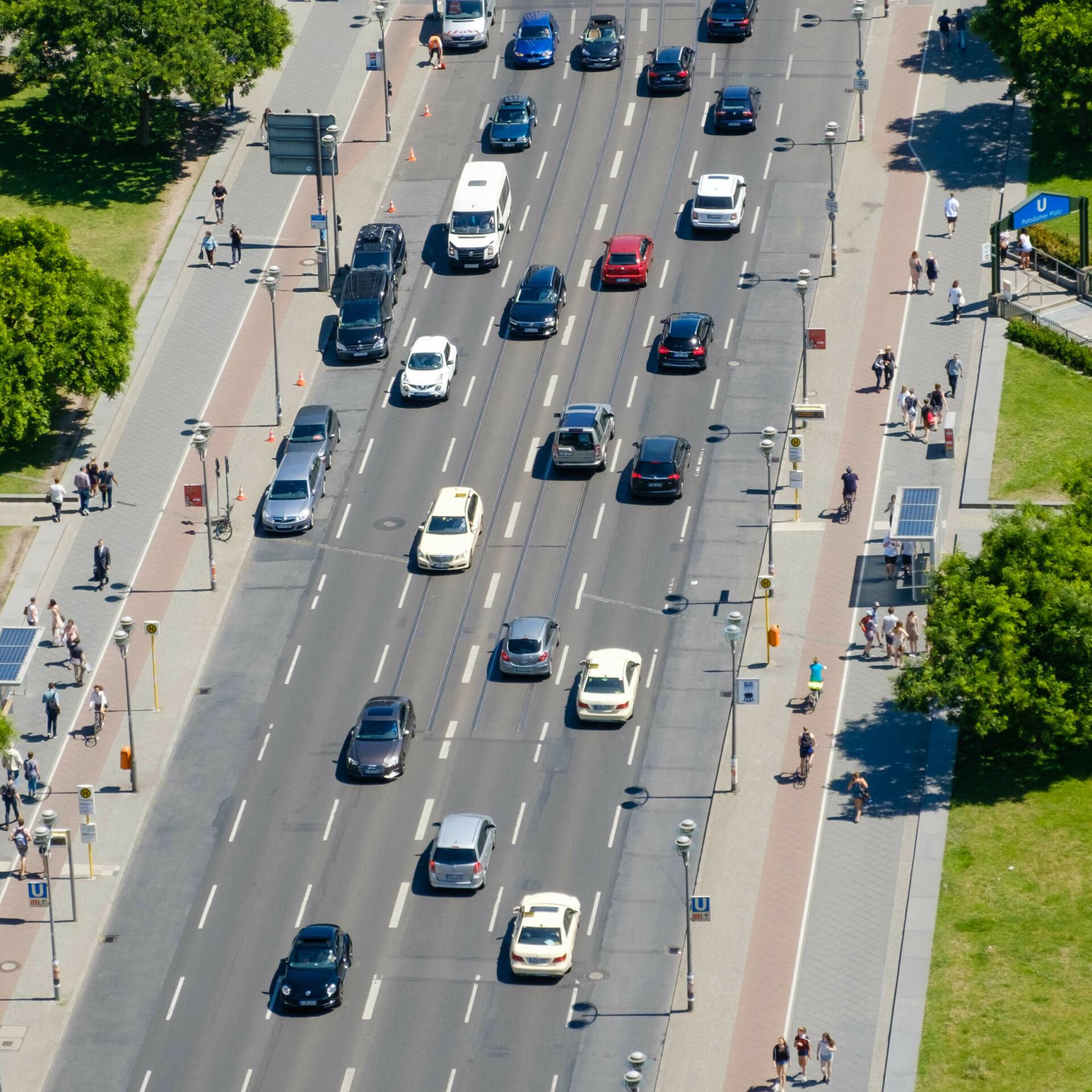 Autoverkehr in Berlin