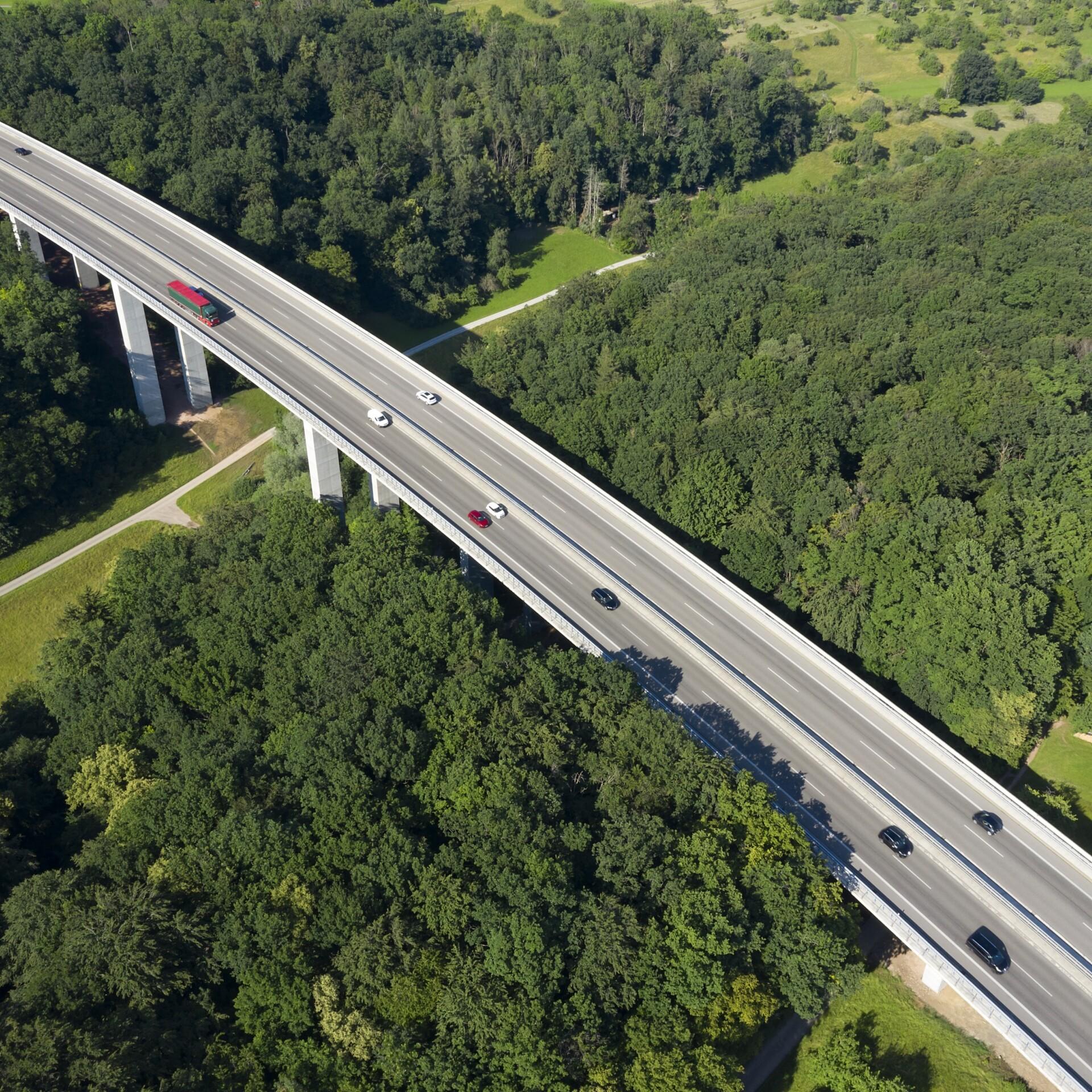 Autobahn von oben